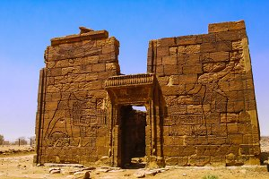 Ruins of Apademak temple Kush civilization, Naqa, Meroe Sudan