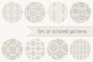 Set of stitched patterns