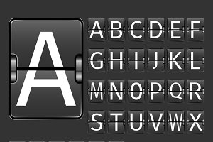 Alphabet airport board