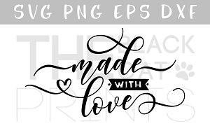 Made with love SVG DXF PNG EPS