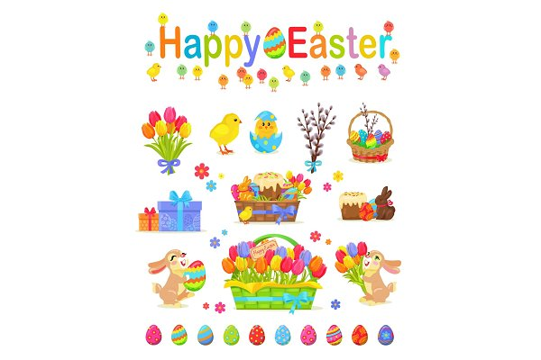Happy Easter Traditional Elements C…