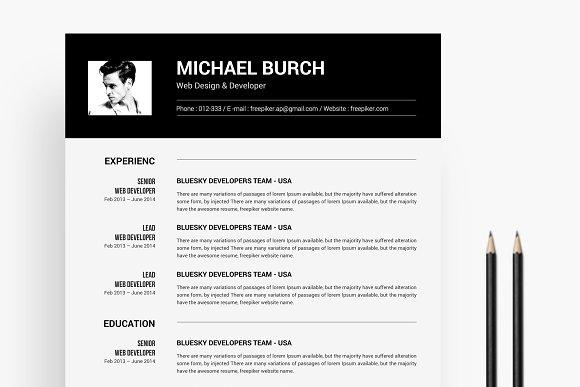 Black White Resume
