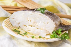 cod with oil and parsley