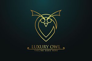 Luxury Owl -Logo Template