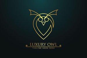 Luxury Owl -Logo Template