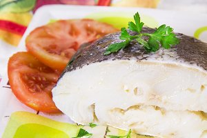 cod dish with tomato