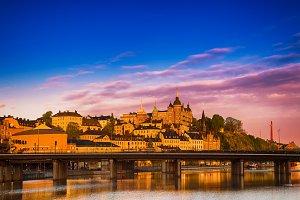 Stockholm city view at sunrise