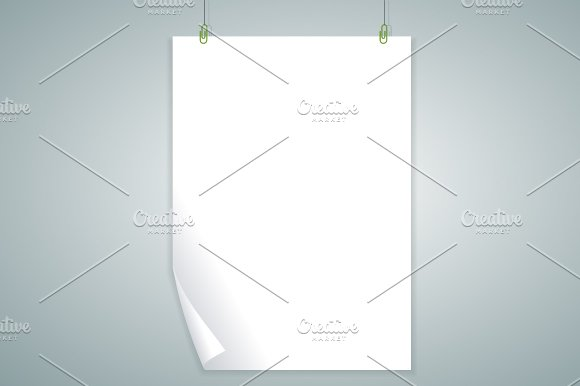 Vector white blank. Flat Design - Objects