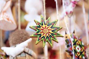Christmas market background