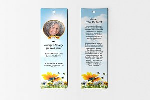 Funeral Bookmark Template V01