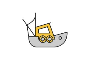 Fisher boat color icon