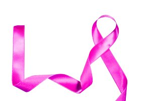 World Cancer Day pink purple ribbon