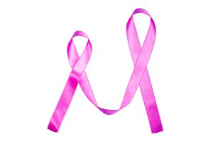 World Cancer Day pink purple ribbon
