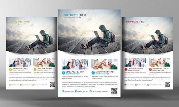 Marketing Flyer Template Flyer Templates Creative Market - Marketing brochure template
