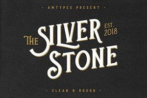 Silver Stone Font + Bonus