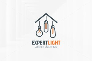 Expert Light Logo Template