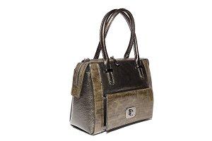 ladies leather handbag brown