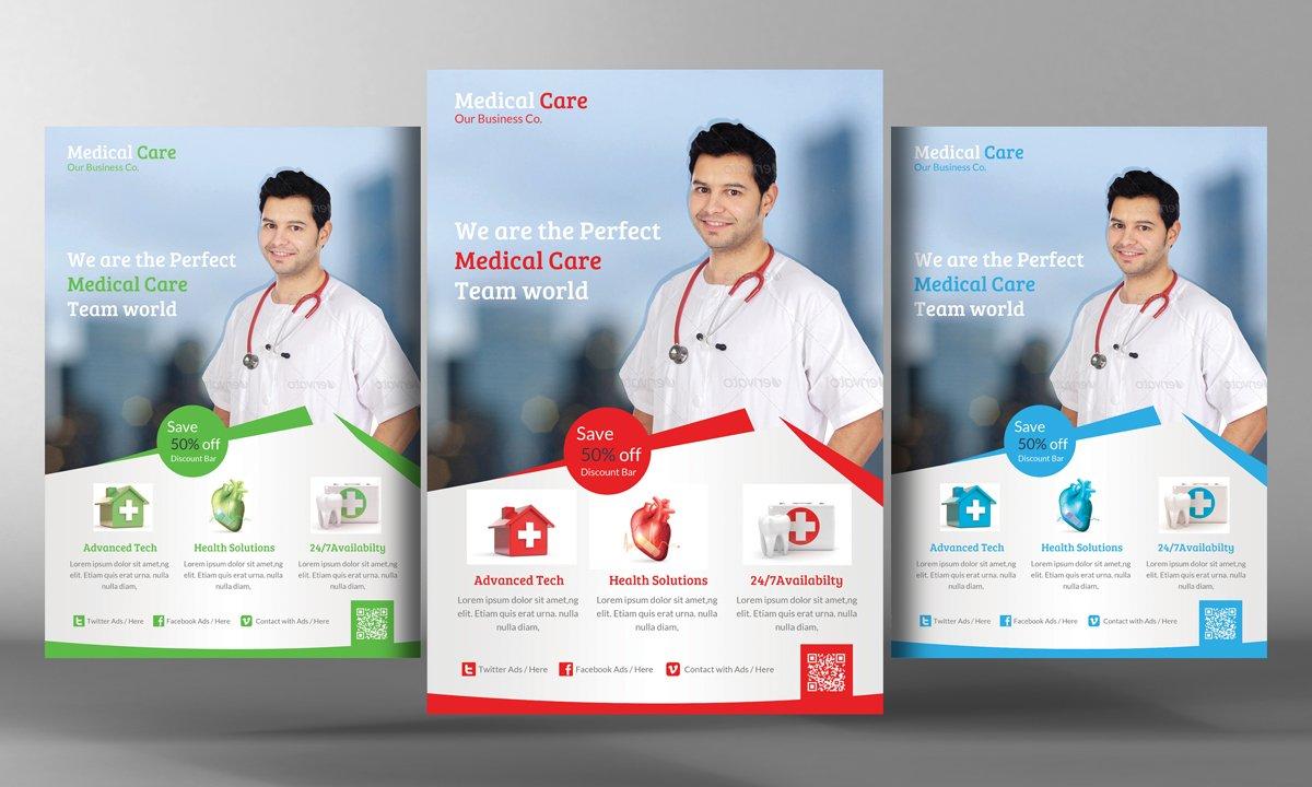 Medical Care Flyer Flyer Templates Creative Market
