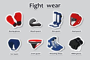 Set of sport fight wear