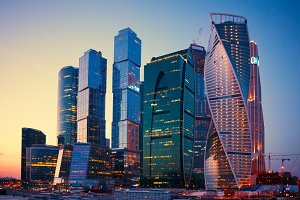 Skyscrapers Buildings of Moscow City