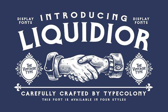 Liquidior Font Illustrations