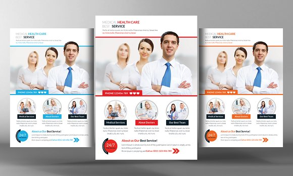 Medical Health Flyer Template Flyer Templates Creative Market - Free medical brochure templates