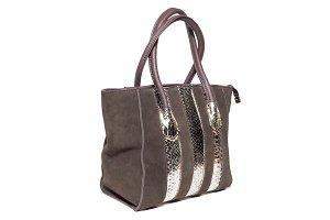 ladies brown suede handbag