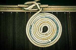 A mooring rope