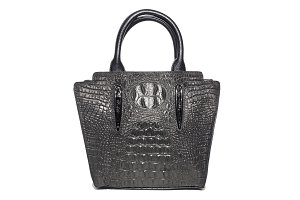 ladies suede bag of black color