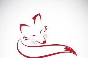 Vector of a red fox design. Animal.