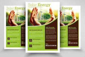 Save Energy Psd Flyer Template