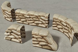 Sandbags Wall Construction Kit