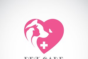 Vector of bird, cat, dog.Veterinary.