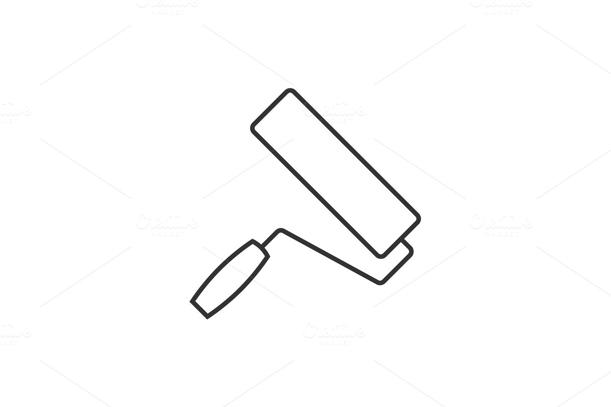 Paint roller outline icon