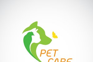 Vector of bird, cat, dog. Pet Care.