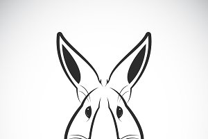 Vector of a rabbit head design.