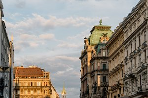 Scenic view of Graben Street in Vienna