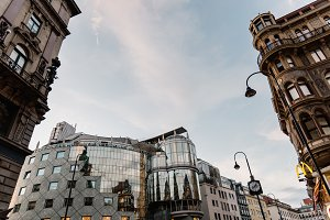 Low angle view of buildings in Stephansplatz in Vienna