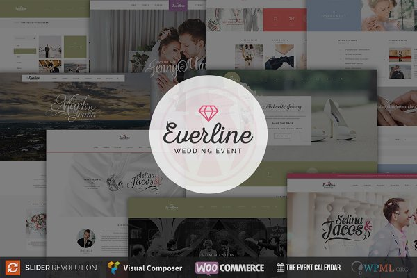 WordPress Wedding Themes: TemPlaza - Everline - Wedding WordPress Theme