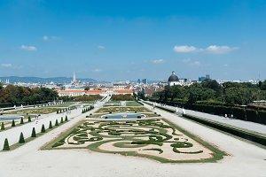 Gardens of Belvedere Palace in Vienna