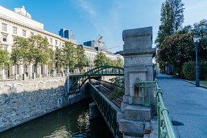 Railway bridge over Danube Canal