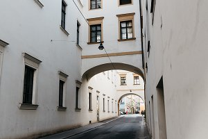 Arch in Backerstrasse in Vienna.