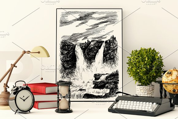 Grand Waterfall in Illustrations - product preview 1