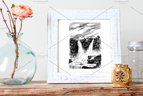 Grand Waterfall in Illustrations - product preview 2