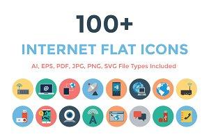 100+ Internet Flat Icons