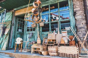 Vintage organic wood store front
