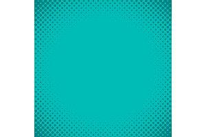 Blue green halftone background vector illustration