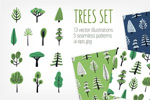Set and pattern doodle trees