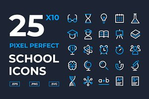 School and Scientific Icons