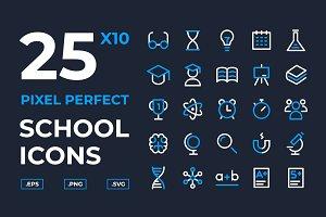 School and Scientific Icons